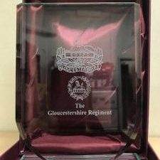 Glos Regt Glass Shield