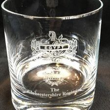 Glos Regt Whiskey Glass